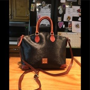 D&B Dillen Dome Cotton Coated Leather Shoulderbag